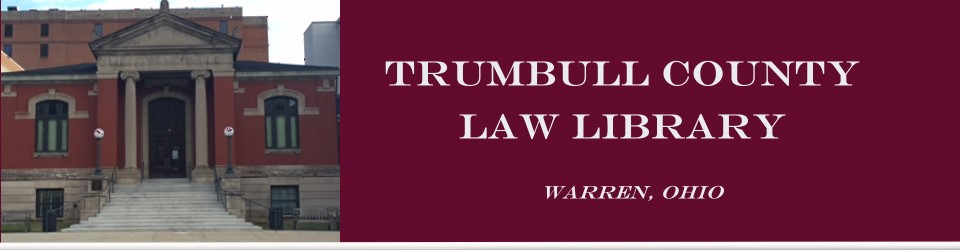 Heading introducing the Trumbull County Law Library Association.